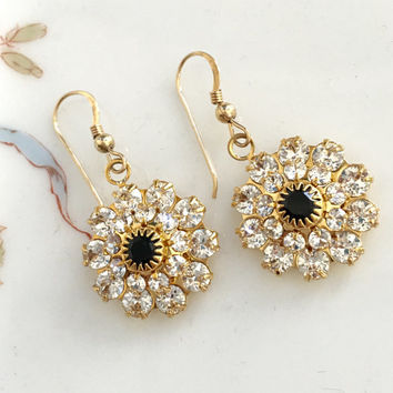 Swarovski Crystal Handmade Wedding Earrrings Gold, Bling Earrings, Gift for Mother of the Bride/Groom, Bridal Jewelry, Valentines Day Gift
