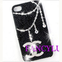 iPhone cover iphone 4 cover Black diamond iphone case Bling iphone 4 case Unique iphone case Hipster iphone 4 case crystal iphone 4s case