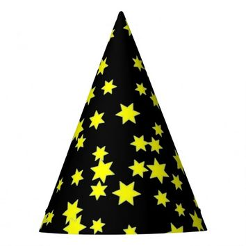 Yellow Stars Party Hat