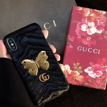 Butterfly GUCCI Cover Case for iPhone 6 7 8 PLUS XSMAX XR