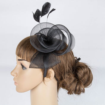 Multiple color crinoline fascinator headwear party headpiece occasion hair accessoires event hats TMYQ040
