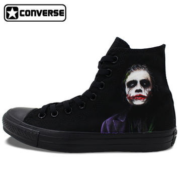 Converse Chuck Taylor Hand Painted Shoes Custom Design Joker Batman Men Women's Sneakers High Top Skateboarding Shoes