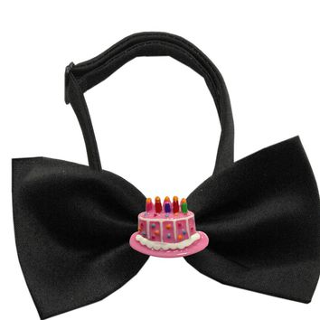 Chipper Birthday Cake Pet Bow Tie (Available in Black & White)