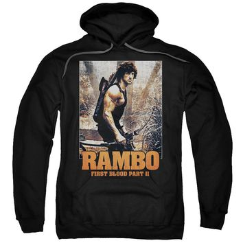 Rambo:First Blood Ii - The Hunt Adult Pull Over Hoodie