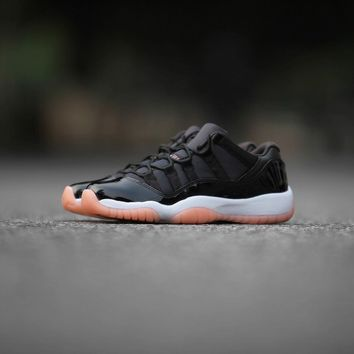 "[Free Shipping]Air Jordan 11 Low ""Bleached Coral"" 580521-013 Basketball Sneaker"
