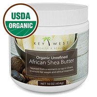 Shea Butter - African Raw Unrefined - USDA Certified Organic - 100% Pure & Natural - 16 OZ - Made By Ghana Women's Co-Op - BPA Free & FDA Compliant Container - Excellent for Hair Skin & Stretch Marks