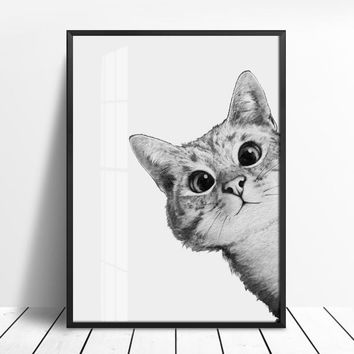 Woodland Lovely Cats Posters and Prints Wall Art Canvas Painting Nursery Animal Picture For Living Room Scandinavian Home Decor