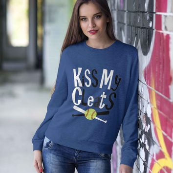 Kiss My Cleats Adult Pullover Sweatshirt