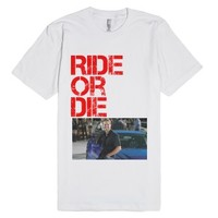 Ride or die paul walker-Unisex White T-Shirt