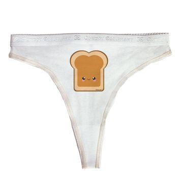 Cute Matching Design - PB and J - Peanut Butter Womens Thong Underwear by TooLoud