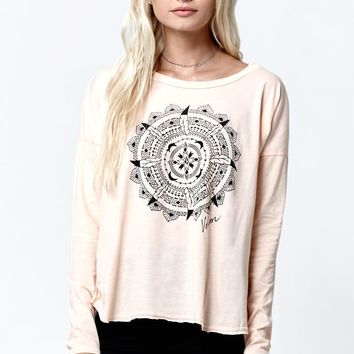 Volcom LaLa Long Sleeve T-Shirt - Womens Tee - Peach