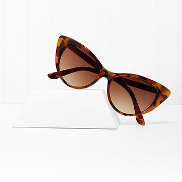 Mood Swing Amber Cat Eye Sunglasses