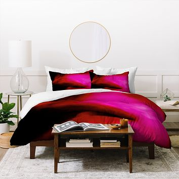 Deniz Ercelebi Lips Red Duvet Cover