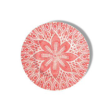 Vietri Viva Red Lace Dinner Plates, Set of 4 | Neiman Marcus