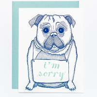 I'm Sorry Pug Card