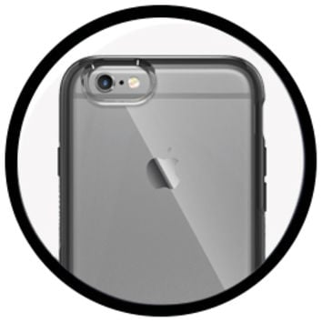 Clear Designer iPhone 6/6s Case with Leather Accents | Statement Series | OtterBox