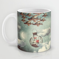 The Rose That Wanted to See the World Mug by Paula Belle Flores