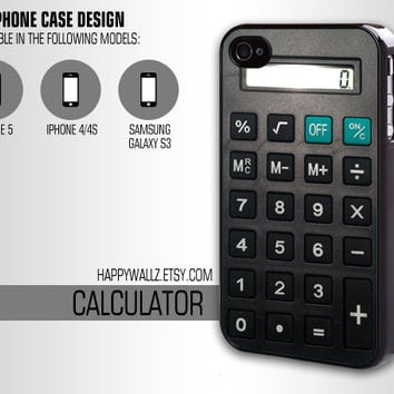 Calculator Iphone Cool Case Iphone 4 case Hipster Iphone 5 case Iphone 4s case Samsung Galaxy S3 Case