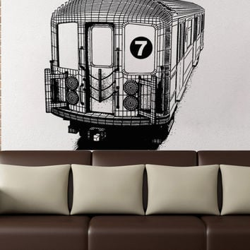 Vinyl Wall Decal Sticker 7 Train Angled #5211