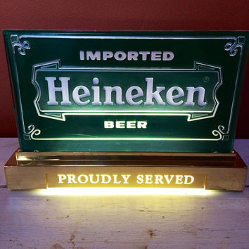 HEINEKEN Advertisement Cash-Register LIGHT UP Sign