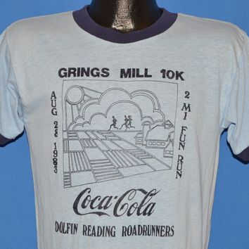 80s Coca Cola Grings Mill 10K Run t-shirt Medium