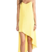 Bardot Asym Party Dress in Yellow