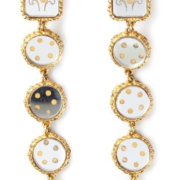 Christian Lacroix Vintage Baroque Mirror Earrings