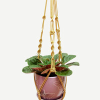 Macrame Plant Hanger - Indoor - Outdoor - Wedding Accessory - Macrame  Plant  Holder 24 inches - Cinnamon Hanging Planter - Balcony Planter
