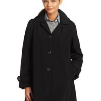 Calvin Klein Women's Hooded Bonded Rain Jacket