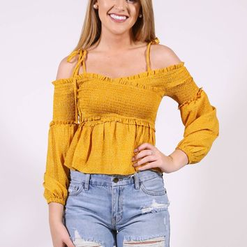 Country Concert Top, Mustard