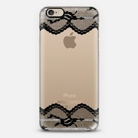 Double Black Romantic Lace iPhone 6 case by Organic Saturation | Casetify