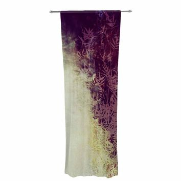 "PIA SCHNEIDER ""BAMBOO ABSTRACTION"" Purple Beige Bokeh Nature Mixed Media Painting Decorative Sheer Curtain"