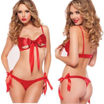 ac PEAPB5Q Cute Hot Deal On Sale Set Red Bikini Butterfly Sexy Exotic Lingerie [6595561603]