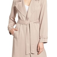 cupcakes and cashmere 'Adams' Drape Trench Coat | Nordstrom