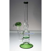 "Green 13"" Honey Comb Twisted Glass - Glass Bongs - 139.99 US and Canada"