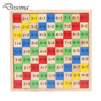 Montessori Multiplication Table Wooden Children Educational Toys 9*9  Arithmetic Math Toy Figure Building Blocks Christmas Gift
