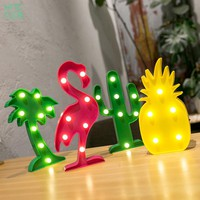 Flamingo Unicorn Night Lights Cactus Cloud Table Lamp LED Marquee Letter Sign Light Pendant Home Decor Lights Gift