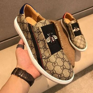 DCCK Gucci Men Fashion Boots fashionable Casual leather Breathable Sneakers Running Shoes Sneakers