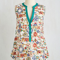 Long Sleeveless Set the Scenic Route Top by ModCloth