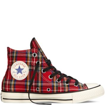 Converse-Chuck Taylor All Star Tartan Plaid-Red