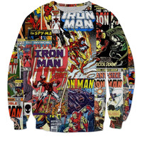 Iron Man Comic Sweater