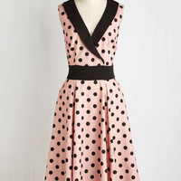 Pinup Long Sleeveless Fit & Flare Hep it Up Dress by ModCloth