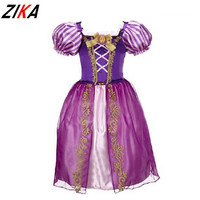 New Girls Cinderella Dresses Children Snow White Princess Dresses Rapunzel Aurora Kids Party Halloween Costume Clothes k20
