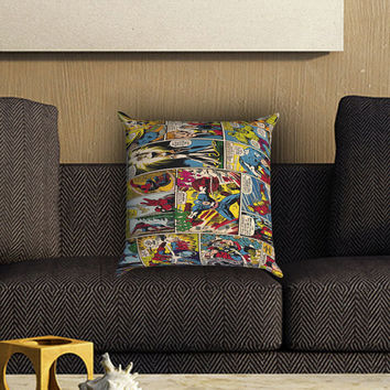 Marvel Comics Pillow Cover , Custom Zippered Pillow Case One Side Two SIde