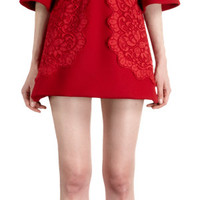Dolce & Gabbana Bell Sleeve Lace Detailed Shift at Barneys.com
