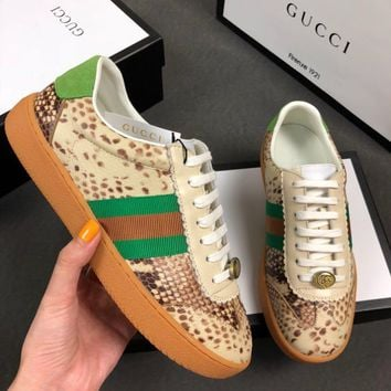 GUCCI Nylon and suede Web sneaker