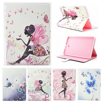 """For Samsung Galaxy Tab E 9.6"""" T560 T561 Case Girl Bling Butterfly PU Leather Book Stand Protective Tablet Cover"""