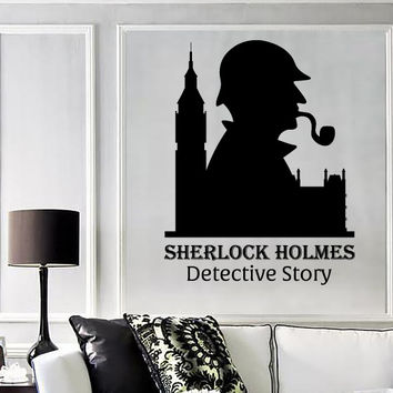 Wall Vinyl Decal Sticker Sherlock Holmes Detective Story Abstract Decor Unique Gift (z4526)