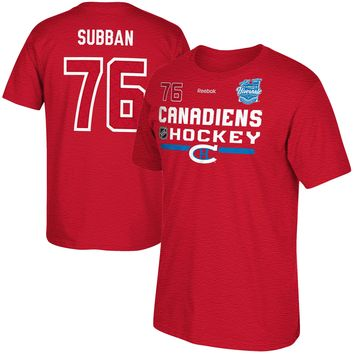 Montreal Canadiens PK Subban 2016 NHL Winter Classic Authentic Supremium T-Shirt (Heather Red)