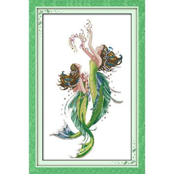 Cross stitch kit The mermaid